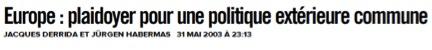 Source: Libération, 31 mai 2003